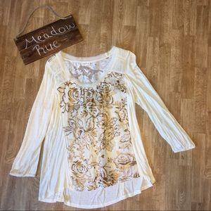Anthropologie Meadow Rue L blouse
